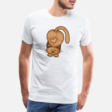 Animation Series Cute cat design | Cat Lover Gift Shirt - Men's Premium T-Shirt