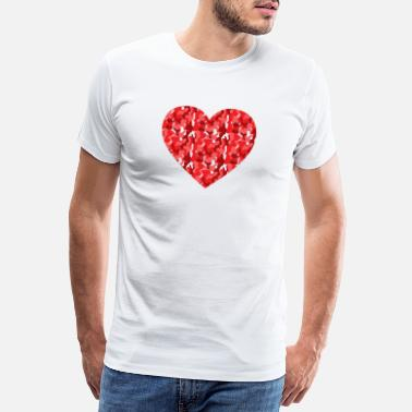 Army Man Camouflage Heart Red - Army - Military - Love - Men's Premium T-Shirt