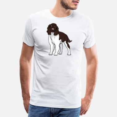 Springer Spaniel English Springer Spaniel Dog - Maglietta premium uomo