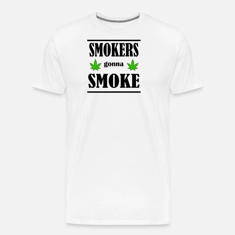 RØYKERE skal RØYKE Premium T skjorte for menn | Spreadshirt