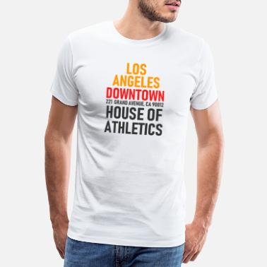 Usa Motive Los Angeles - Downtown - House of Athletics - Cal. - Männer Premium T-Shirt