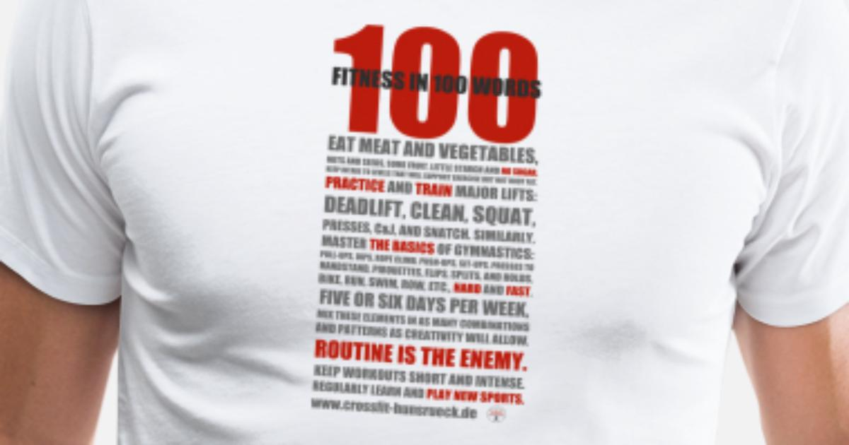 HommeSpreadshirt Légère 100 Chemise T Mots Shirt Premium vy0m8nNwO