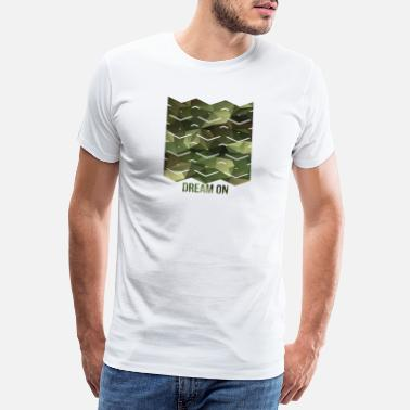 Plain Pattern with waves - Dream on camouflage pattern - Men's Premium T-Shirt