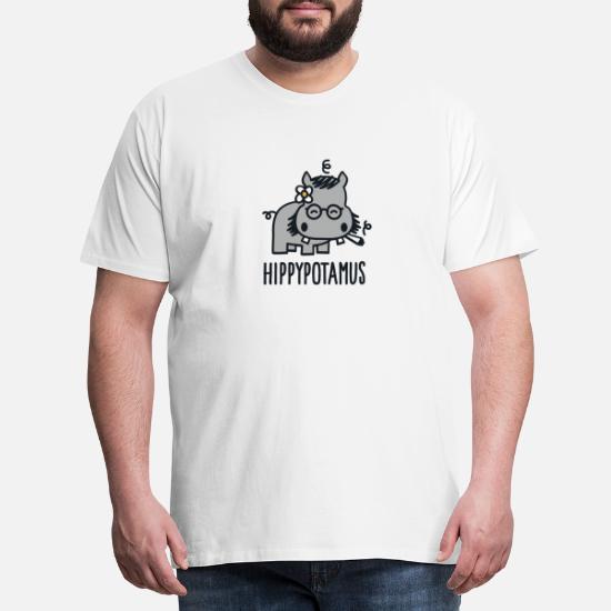 Hippypotamus Lang T skjorte for menn   Spreadshirt
