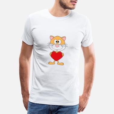 Patty Funny hamster - heart - love - love - fun - Men's Premium T-Shirt