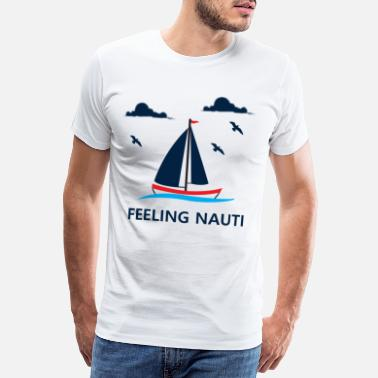 Sail Boat Sailing Boating Sailboat Lovers Gift - Men's Premium T-Shirt