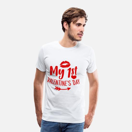 Day T-Shirts - My 1st Valentine's Day Love Gift - Men's Premium T-Shirt white