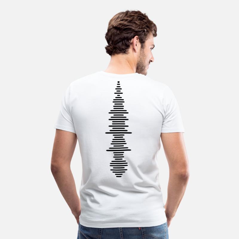 Sonora Camisetas - onda sonora - Camiseta premium hombre blanco a725d26961da1