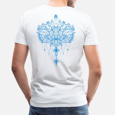 Ornamental STAT FOR MIND BLÅ - Premium T-shirt mænd