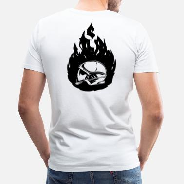 Pompier new_casque_flamme - T-shirt premium Homme