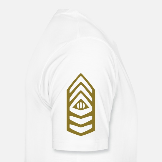 Army T-Shirts - Insignia Command Sergeant Major - Men's Premium T-Shirt white