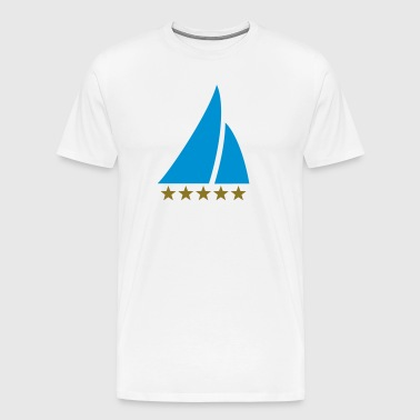 Sailing Five Star, Sailor, Boat, Surfing, Sea, - Men's Premium T-Shirt