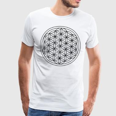 Flower of life - Herre premium T-shirt