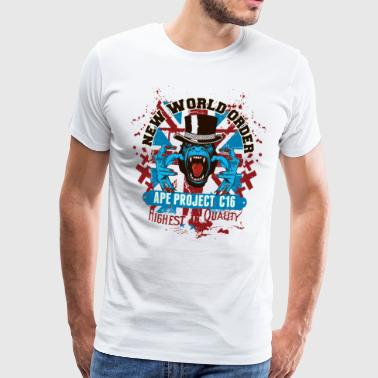WORLD ORDER Gift British punk monkey gorilla - Men's Premium T-Shirt