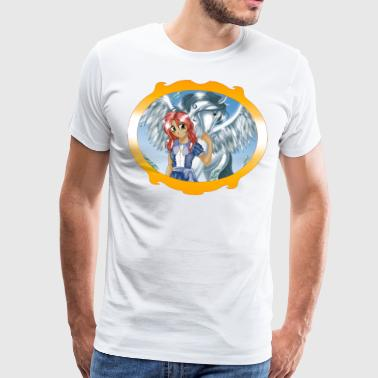 Girl and Pegasus - Premium-T-shirt herr