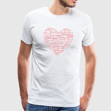 I love you - in many languages - Men's Premium T-Shirt