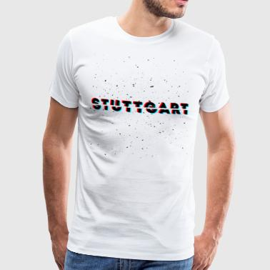 Stuttgart Glitch Dust Design - T-shirt Premium Homme