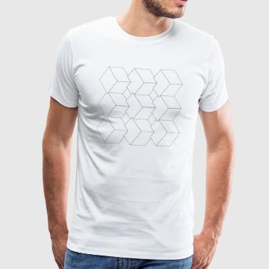 Gemometry design graphic gift shape cubes - Men's Premium T-Shirt