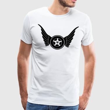 Wheel with wings - Miesten premium t-paita