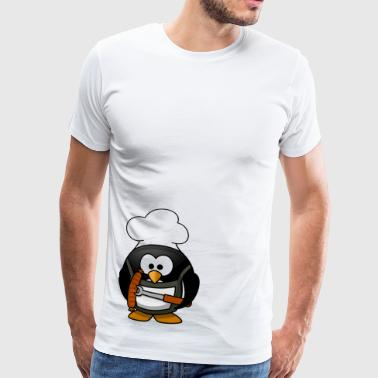 Grill Pinguin Cartoon - Maglietta Premium da uomo