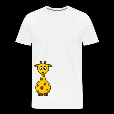 Giraffe Cartoon - Men's Premium T-Shirt