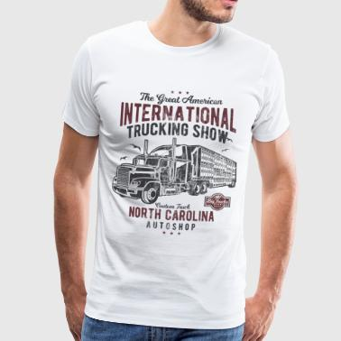 INTERNATIONAL TRUCKING - Vintage Truck Shirt Motiv - Männer Premium T-Shirt