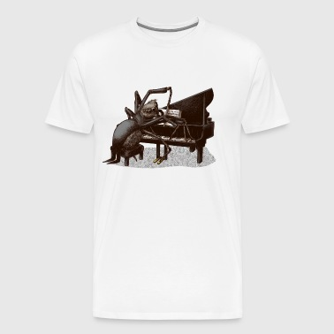 spider Pianist - Premium T-skjorte for menn