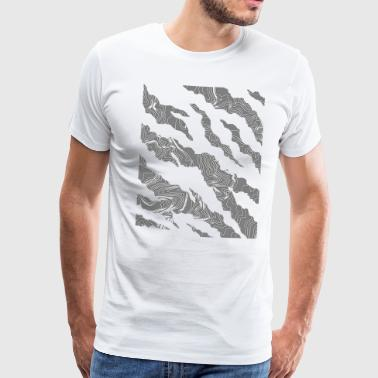 Cracks gray - Men's Premium T-Shirt