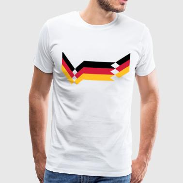 Duitsland Retro Design voetbal nationale team World Cup Championship - Mannen Premium T-shirt