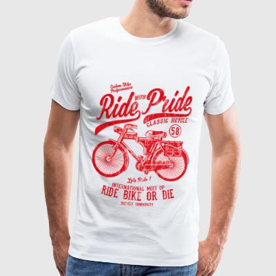RIDE WITH PRIDE - Bicycle and bike shirt motif - Men's Premium T-Shirt