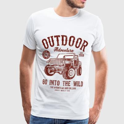 IN TO THE WILD - Camping and outdoor shirt motif - Men's Premium T-Shirt
