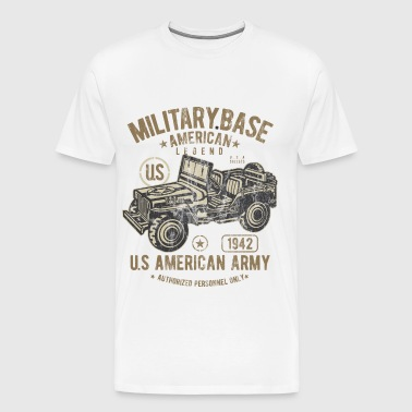 MILITARY BASE - US Army Jeep Shirt Design - Men's Premium T-Shirt