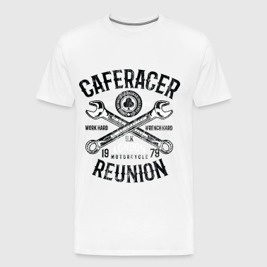 CAFE RACER REUNION - Londen Motorcycle Shirt Design - Mannen Premium T-shirt