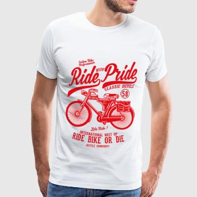 RIDE BIKE OR DIE - Bicycle and Bicycle Shirt Motif - Men's Premium T-Shirt
