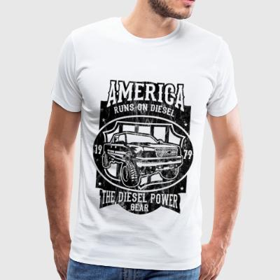 DIESEL POWER - American Car and Car Shirt Motif - Men's Premium T-Shirt