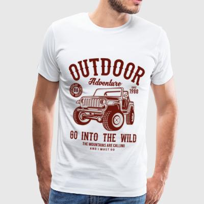 Outdoor Adventure JEEP - Camping & Outdoor Shirt - Koszulka męska Premium