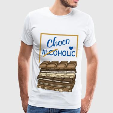 Chocoholic chocolate love - Men's Premium T-Shirt
