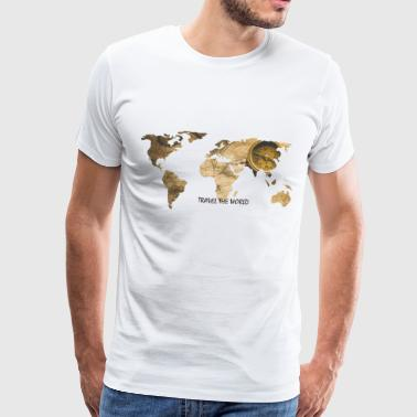 WORLD MAP - Männer Premium T-Shirt