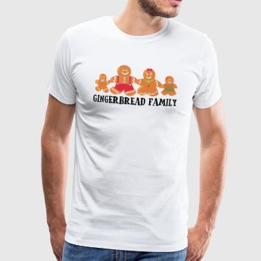 Gingerbread Family Family Christmas Gift - Men's Premium T-Shirt