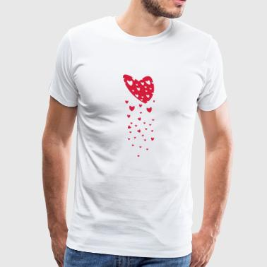 the heart generates the heart - Men's Premium T-Shirt