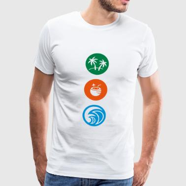 PALM TREEs / COCONUT DRINKS / OCEAN / BEACH - Men's Premium T-Shirt