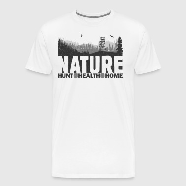 Nature Hunt Health Home - Premium-T-shirt herr