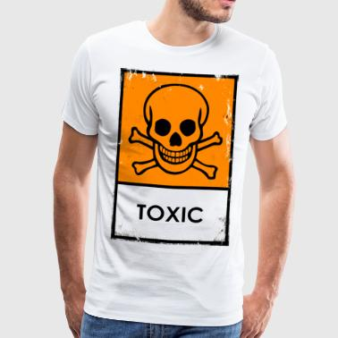 Punk. Skull chemical danger. Toxic or poisonous - Men's Premium T-Shirt