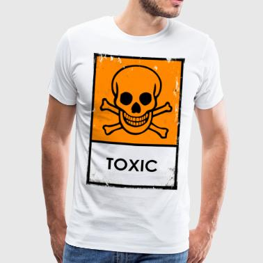 Chemical risk symbol. Toxic or poisonous - Men's Premium T-Shirt