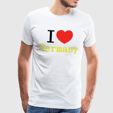 I love Germany in den Landesfarben - Männer Premium T-Shirt