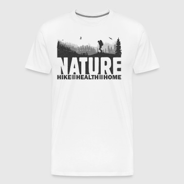 Naturvandring Health Home - Premium-T-shirt herr