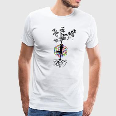 YOGA BUDDHA NATURE TREE MEDITATION T-SHIRT - Men's Premium T-Shirt
