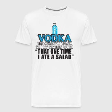 Vodka alkohol Vodka - Premium T-skjorte for menn