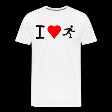 I love roller skates - Men's Premium T-Shirt