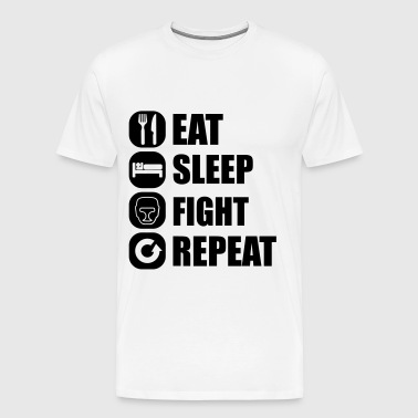 eat_sleep_fight_repeat_15_1f - Camiseta premium hombre